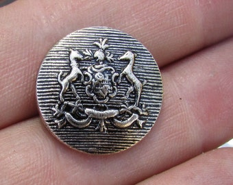 shield with deer button set of 8