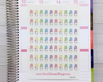 Kawaii Happy Pill Stickers