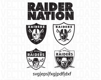 Raider Nation Logo 2 Pack Inspired Vector Art, Los Angeles Raiders svg dxf fxg eps pdf ai format download
