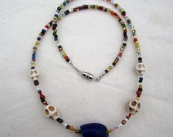 Hodge Podge Skull Necklace