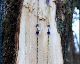 """Necklace """"Octopoulpe"""" and blue beads"""