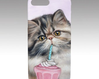 Cat iphone case, cat mobile case, persian cat mobile case, snap case for iPhone and Samsung Galaxy, pet device case, cat lover's gift, cat