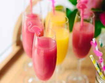 Flamingo Drink Stirrer, Bachelorette Party, Bridal Shower, Tropical, Swizzle Sticks, Party, Summer, Acrylic, Laser Cut, Bar Decor, 6 Pack