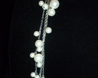 Pearl-like Bobble Silver Bracelet