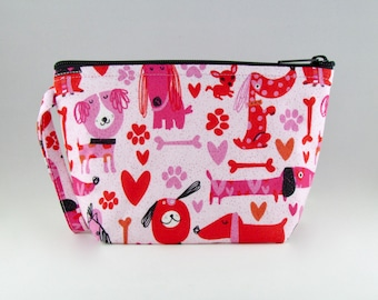 Puppy Love Makeup Bag - Accessory - Cosmetic Bag - Pouch - Toiletry Bag - Gift