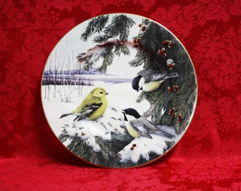 Lenox winter greetings star candy dish winter greetings fine lenox winter greetings scenic chickadees goldfinch plate lenox winter greetings catherine mcclung art collector plates lenox china m4hsunfo
