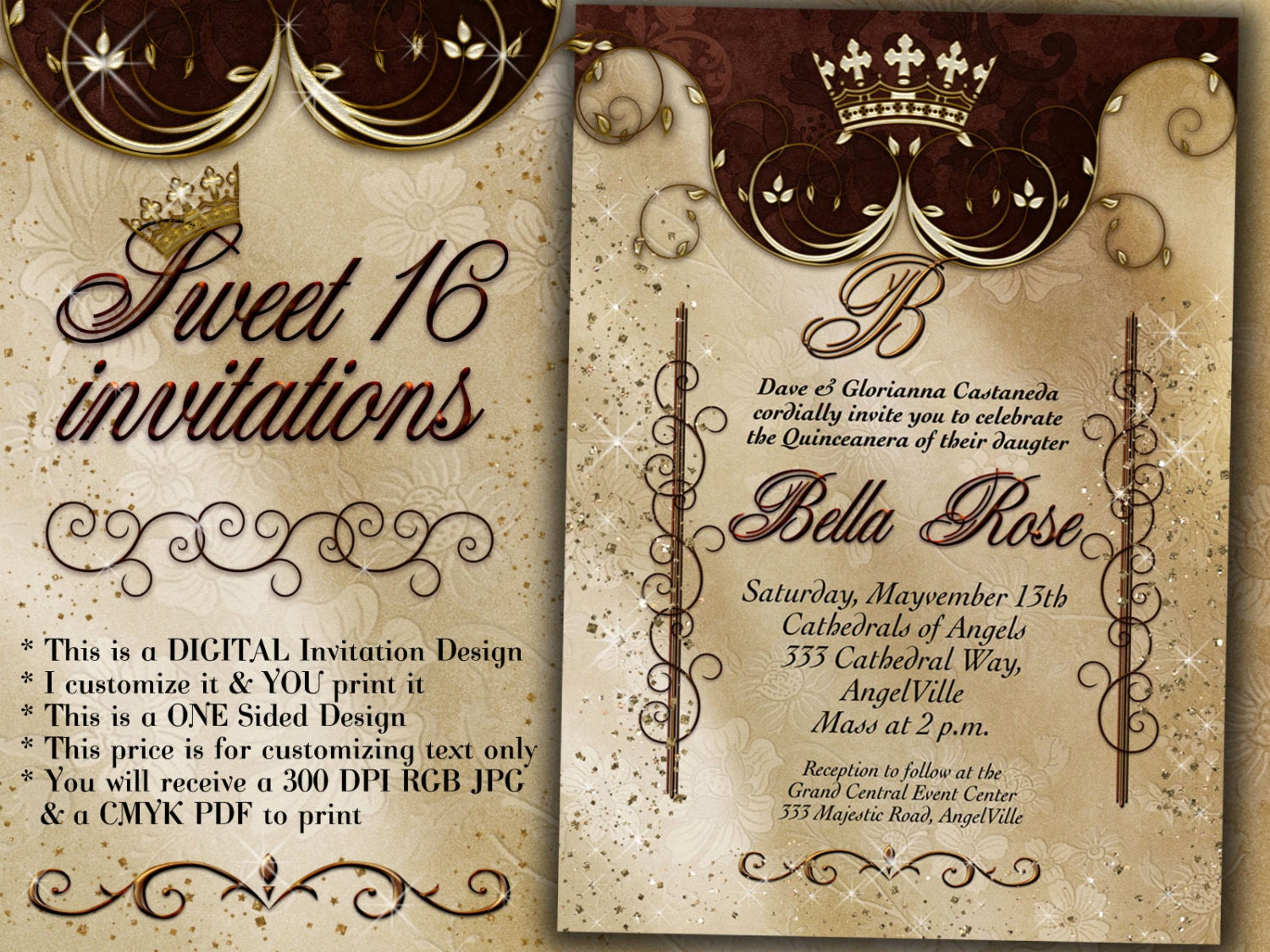 Birthday party invitations quinceanera invitation party zoom monicamarmolfo Image collections