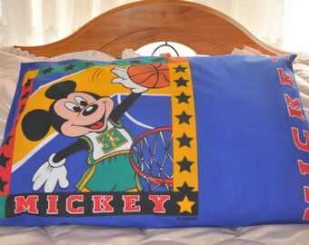 Mickey Mouse Print Pillow Case