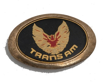 Vintage Trans Am belt buckle heavy piece solid brass offically licensed