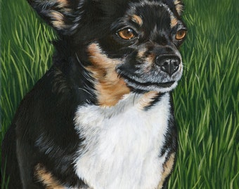 Custom Pet Portrait, Custom Dog Painting, Dog Portrait from photos, painting of your pet, dog wall art on stretched canvas, size 8 x 10