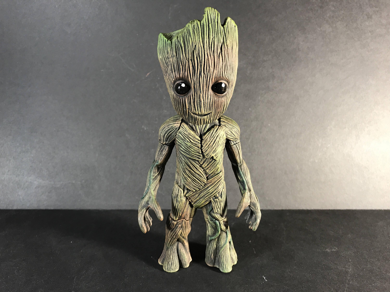 Custom Painted Baby Groot Bop It Game