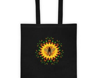 Tote bag honey bee and Monarch butterfly designs