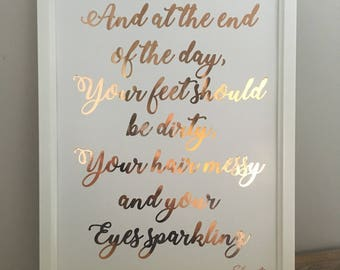 A4 Foiled Print - Any Quote!