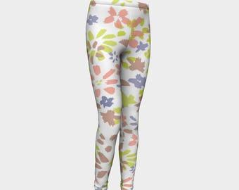 Girls Leggings, Wild Flowers Leggings, Girls Yoga Leggings, Leggings, Girls Clothes, Dance Leggings, Girls Yoga Pants, Gift for Girl