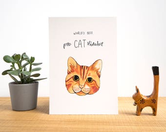 World's Best Pro - CAT - Stinator A5 Print - Funny Cat Print