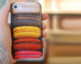CLEARANCE Sale French Patisserie Macarons iPhone 4/ 4s / 5 / 5s Samsung Galaxy s2/ s3 Plastic Case. Sweet Accessory. Teens Gift