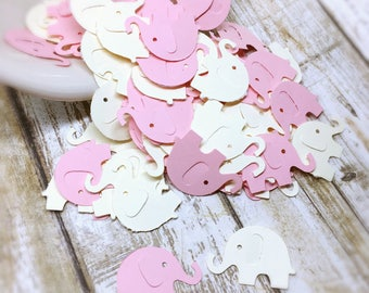 Baby Shower Decoration, Elephant Confetti, Pink Elephant Confetti, Elephant Baby Shower, Girl Baby Shower, 100 Count