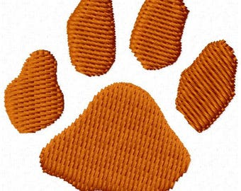 Paw Print Machine Embroidery Design - Instant Download