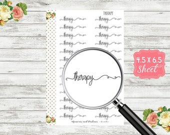 S129 Therapy Planner Stickers - Script Stickers - Script Planner Sticker - Cursive Sticker - Bullet Journal - BUJO Stickers - Header