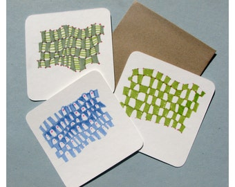 Small Hand Drawn Insert Card - Wiggley Pattern