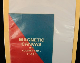 Crafter's Choice Magnetic Canvas Sheet with Colored Vinyl Adhesive Backing 5 x 8 New