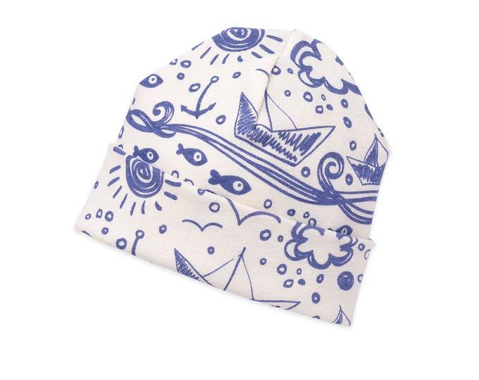 Newborn Sailboat Hat, Newborn Sailboat Baby Hat, Baby Sailing Hat Boys Girls, Baby Boy Sailor Hat, Baby Girl Sailor Hat Tesababe