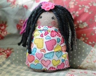 Handmade Sock Doll - Rose