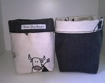 empty storage organization basket cow, cow, basket cow gift decoration woman man
