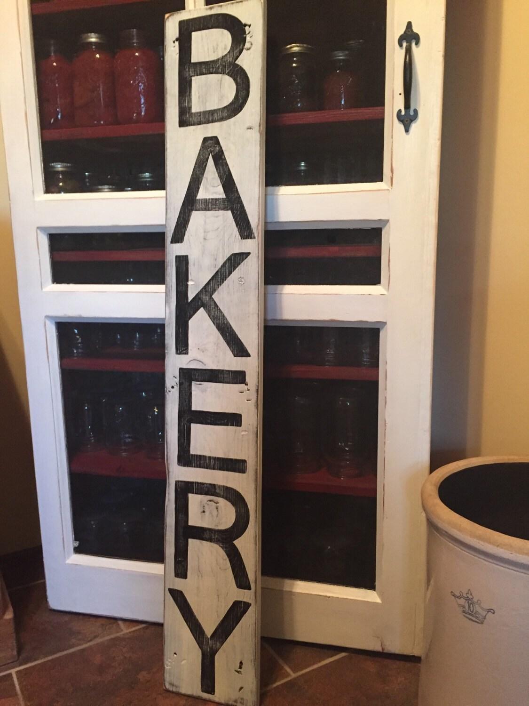 Bäckerei Zeichen Holz Bäckerei Zeichen vertikale Bäckerei
