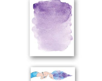 Mermaid Waves Sticky Notes & Flags Set