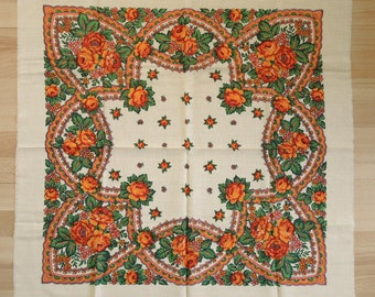 Châle en laine Vintage écharpe en laine avec motif floral #75