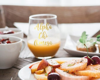Alpha Chi Omega Glass