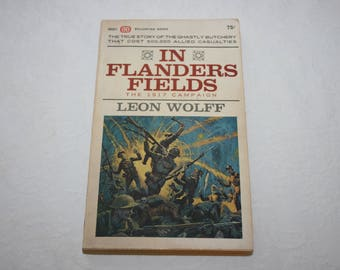 Vintage Paperback Book, In Flanders Fields, by Leon Wolff, 1964, World War 1