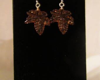 Acrylic Drop Maple Leaf Earrings
