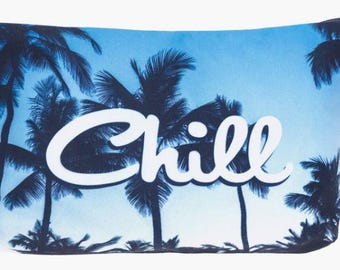Palm Tree Chill Small Makeup Bag