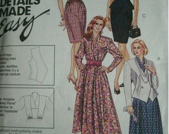 Misses Lined Jacket and Dresses in Three Lengths Size 22 EASY McCalls Designer Details Made Easy Dress - Suitable Dress - UNCUT Pattern