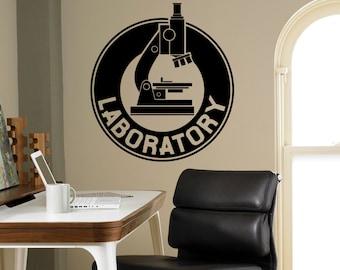 Laboratory Wall Decal Vinyl Sticker Chemistry Microscope Art Decor Home Interior Room Custom Design Window Bedroom Ideas 5(shy)