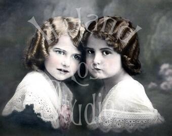 Kindred Spirits-French Postcard-Digital Image Download