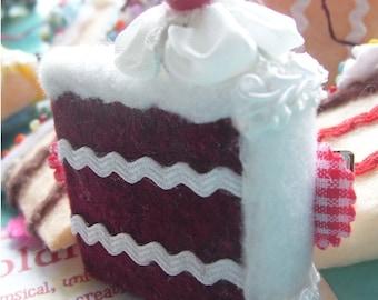 yummy red velvet cake slice barrette