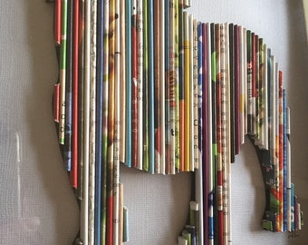 Recycled Magazine English Bulldog