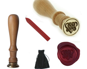 Celtic Heart Wax Seal Stamp Perfect Custom Gift for Wedding or Party Invitations