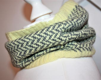 BEA Knitting Pattern for Ladies Fair Isle Cowl Neck Warmer PDF Instant Download