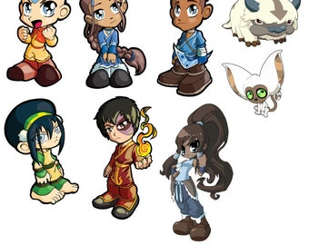 Avatar the Last Airbender and Korra anime Art Magnets
