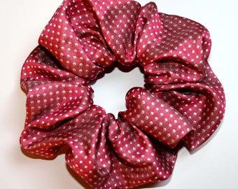 "Handmade hair gum made of pure jacquard silk ""polka dots"", women's fur accessory, female rubber, for girls"