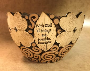 Large Scripture Dogwood Bowl 54