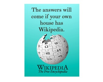 Answers in Wikipedia Funny Sobriety Card