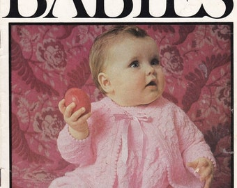 ON SALE Patons The Babies in 3 Ply  Knitting Designs for Baby Pattern No 790 - Vintage 1970's