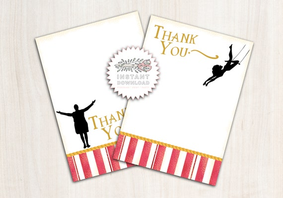 The Greatest Show Thank You Note - Instant Download Thank You
