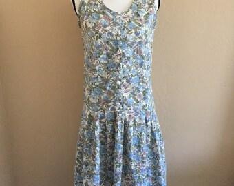 vintage 90s drop waist floral dress
