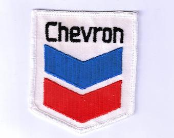 Rare Collectible Chevron Service Station 1970s Retro Vintage Sewing Applique Patch